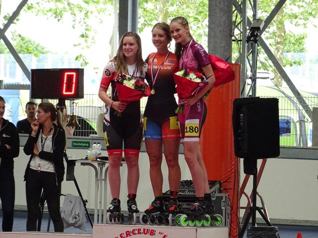 Bente Kerkhoff wint brons! Met een goede start weet Anna de koppositie te houden maar het is knokken tot de eindstreep.