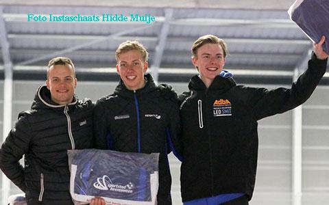 Jordy van Workum 3e op de 500m(foto: Instaschaats Hidde Muije)
