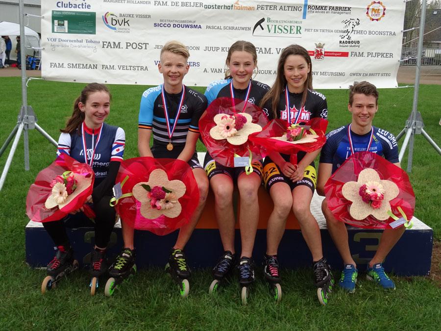 De 5 medaillewinnaars bij de jeugd