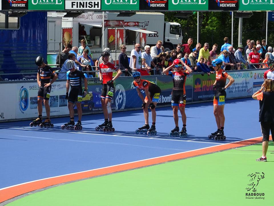 Heren junioren A aan de start bij de 1000m