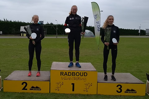 junioren*B*meisjes 1 Lisan van der Linde 2 Klaske Baars (Radboud) 3 Iris Tiben (Radboud)