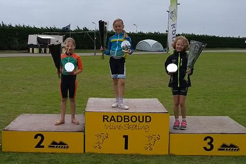 Podium pupillen*3*meisjes 1 Marin Steegstra 2 Naomi Dekker 3 Guusje de Boer (Radboud)