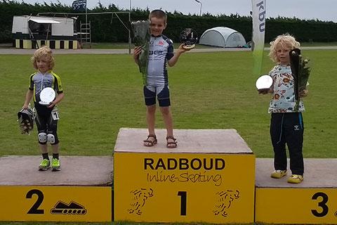 Podium pupillen*4*jongens 1 Matteo Deceuninck 2 Charlie Peerdeman (Radboud) 3 Mats Bakker (Radboud)