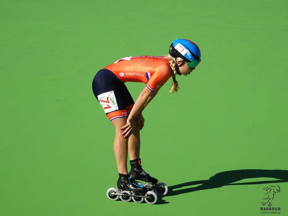 Anna van den Bos op het WK in Heerde