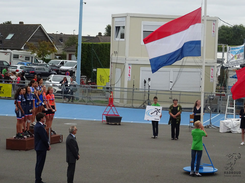 Er stond een goede wind voor de vlaggen vandaag