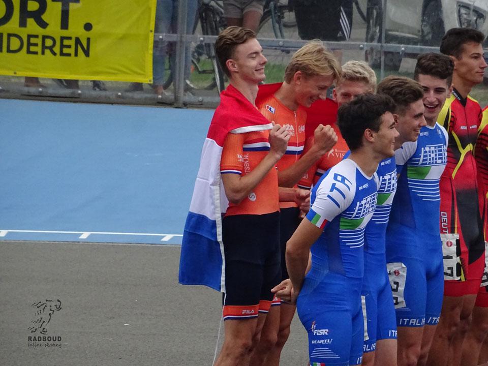 Winst voor de junior men bij de relay met van Radboud Jordy van Workum