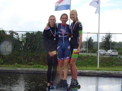 Evelien Vijn 1e in dagklassement, Iris Tiben 2e