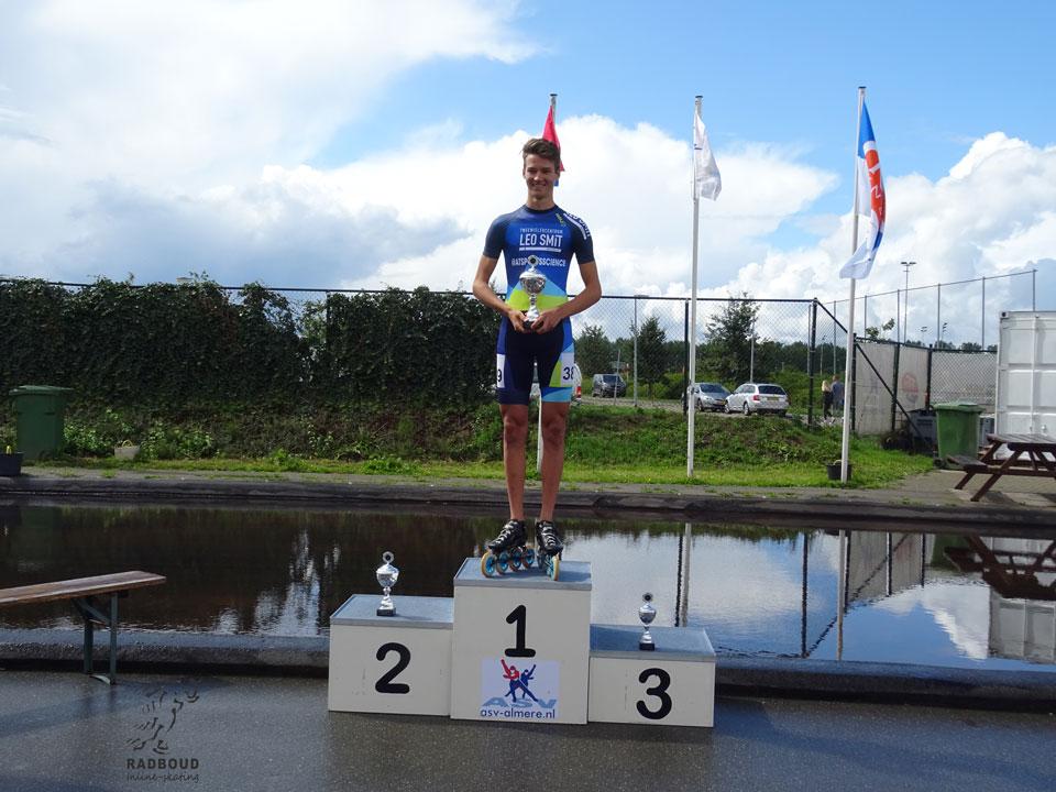 Gert-Jan van Diepen op 'eenzaame hoogte', winst in het eindklassement!