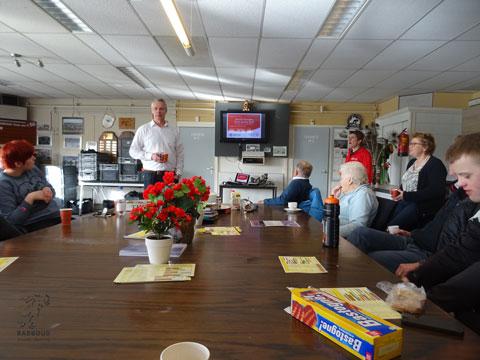 Presentatie van Team.NL in de kantine