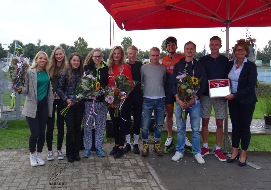 Alle aanwezige Radboudskaters van de EK / WK gehuldigd