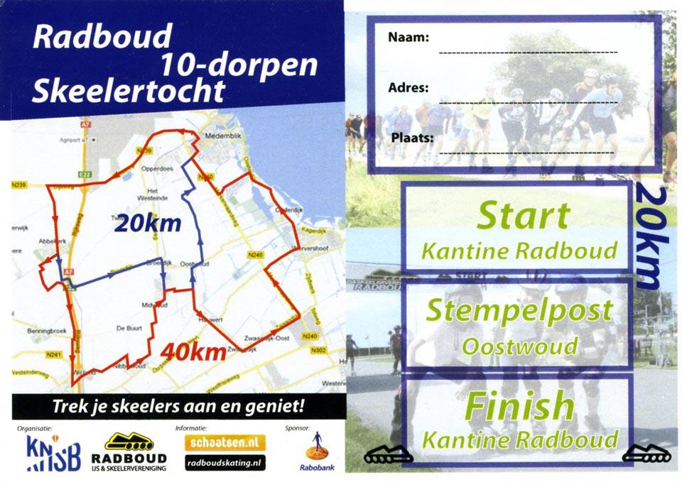 De route van de dorpentocht (kan mogelijk afwijken bij een volgende editie)